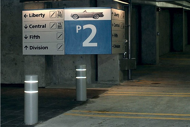 5th Avenue Parking Garage Universal Sign Systems