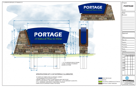 City Of Portage Universal Sign Systems